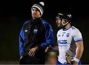 2 January 2019; Waterford selector James Murray speaking with Waterford captain Noel Connors following the Co-Op Superstores Munster Hurling League 2019 match between Cork and Waterford at Mallow GAA Grounds in Mallow Co. Cork.  Photo by Eóin Noonan/Sportsfile