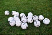 29 December 2018; A general view of footballs before the Bord na Móna O'Byrne Cup Round 2 match between Westmeath and Offaly at Lakepoint Park, St Loman's GAA Club, in Mullingar, Westmeath. Photo by Piaras Ó Mídheach/Sportsfile