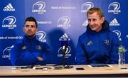 4 January 2019; Rob Kearney, left, and head coach Leo Cullen, right, during a Leinster Rugby Press Conference at the RDS Arena in Dublin. Photo by Seb Daly/Sportsfile