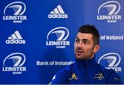 4 January 2019; Rob Kearney speaking during a Leinster Rugby Press Conference at the RDS Arena in Dublin. Photo by Seb Daly/Sportsfile
