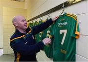 5 January 2019; Meath kit man Paddy Doyle in the team dressing room before the Bord na Móna O'Byrne Cup Round 3 match between Wexford and Meath at St Patrick's Park in Wexford. Photo by Matt Browne/Sportsfile