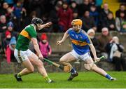 5 January 2019; Jake Morris of Tipperary in action against James O'Connor of Kerry during the Co-Op Superstores Munster Hurling League 2019 match between Tipperary and Kerry at MacDonagh Park in Nenagh, Co. Tipperary. Photo by Eóin Noonan/Sportsfile
