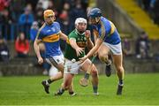 5 January 2019; Jason Forde of Tipperary is tackled by Mikey Boyle of Kerry during the Co-Op Superstores Munster Hurling League 2019 match between Tipperary and Kerry at MacDonagh Park in Nenagh, Co. Tipperary. Photo by Eóin Noonan/Sportsfile