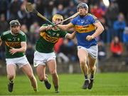 5 January 2019; Jason Forde of Tipperary is tackled by John Buckley of Kerry during the Co-Op Superstores Munster Hurling League 2019 match between Tipperary and Kerry at MacDonagh Park in Nenagh, Co. Tipperary. Photo by Eóin Noonan/Sportsfile