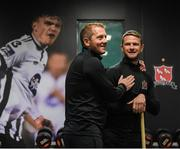 5 January 2019; Dundalk head coach Vinny Perth, left, with Dane Massey during the opening day of Dundalk pre season training at Oriel Park in Dundalk, Co Louth. Photo by Stephen McCarthy/Sportsfile