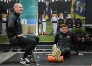 5 January 2019; Gary Rogers, left, and Daniel Kelly during the opening day of Dundalk pre season training at Oriel Park in Dundalk, Co Louth. Photo by Stephen McCarthy/Sportsfile