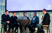 5 January 2019; Leinster Rugby players Peter Dooley, Josh van der Flier and Sean O'Brien and Ireland Rugby head coach Joe Schmidt talk during a Q&A during the Leinster Rugby Junior Lunch at the Ballsbridge Hotel in Dublin. The Leinster Rugby Junior Lunch was held in the Ballsbridge Hotel this afternoon. This is the second year that the lunch has been held in celebration of Junior Rugby in Leinster. Photo by Harry Murphy/Sportsfile