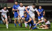 5 January 2019; Seán Cronin of Leinster dives over to score his side's first try during the Guinness PRO14 Round 13 match between Leinster and Ulster at the RDS Arena in Dublin. Photo by Ramsey Cardy/Sportsfile
