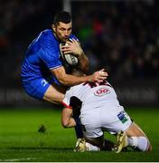 5 January 2019; Rob Kearney of Leinster is tackled by James Hume of Ulster during the Guinness PRO14 Round 13 match between Leinster and Ulster at the RDS Arena in Dublin. Photo by Ramsey Cardy/Sportsfile