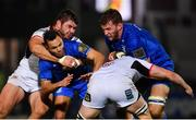 5 January 2019; Ross Molony of Leinster supported by teammate Jamison Gibson-Park is tackled by Nick Timoney of Ulster during the Guinness PRO14 Round 13 match between Leinster and Ulster at the RDS Arena in Dublin. Photo by Ramsey Cardy/Sportsfile