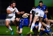 5 January 2019; Barry Daly of Leinster is tackled by Wiehahn Herbst, left, and Peter Nelson of Ulster during the Guinness PRO14 Round 13 match between Leinster and Ulster at the RDS Arena in Dublin. Photo by Ramsey Cardy/Sportsfile