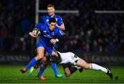 5 January 2019; Noel Reid of Leinster is tackled by Darren Cave of Ulster during the Guinness PRO14 Round 13 match between Leinster and Ulster at the RDS Arena in Dublin. Photo by Ramsey Cardy/Sportsfile
