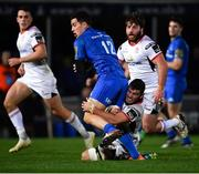 5 January 2019; Noel Reid of Leinster is tackled by Sean Reidy of Ulster during the Guinness PRO14 Round 13 match between Leinster and Ulster at the RDS Arena in Dublin. Photo by Ramsey Cardy/Sportsfile