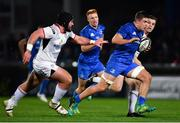 5 January 2019; Scott Penny of Leinster makes a break during the Guinness PRO14 Round 13 match between Leinster and Ulster at the RDS Arena in Dublin. Photo by Ramsey Cardy/Sportsfile