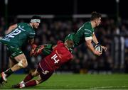 5 January 2019; Tom Farrell of Connacht supported by team-mate Tom Daly is tackled by Keith Earls of Munster during the Guinness PRO14 Round 13 match between Connacht and Munster at the Sportsground in Galway. Photo by Piaras Ó Mídheach/Sportsfile