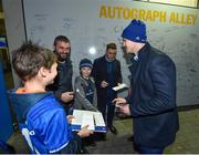 5 January 2019; Leinster players Jonathan Sexton, Garry Ringrose and Jordan Larmour meet and greet supporters in 'Autograph Alley' prior to the Guinness PRO14 Round 13 match between Leinster and Ulster at the RDS Arena in Dublin. Photo by Seb Daly/Sportsfile