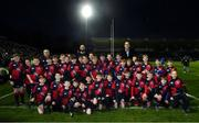 5 January 2019; The Coolmine RFC team with Leinster players Scott Fardy and Devin Toner ahead of the Guinness PRO14 Round 13 match between Leinster and Ulster at the RDS Arena in Dublin. Photo by Ramsey Cardy/Sportsfile
