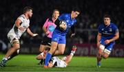 5 January 2019; Noel Reid of Leinster escapes the tackle of Kyle McCall of Ulster during the Guinness PRO14 Round 13 match between Leinster and Ulster at the RDS Arena in Dublin. Photo by Brendan Moran/Sportsfile