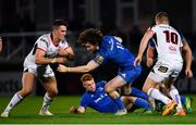 5 January 2019; Barry Daly of Leinster in action against James Hume, left, and Johnny McPhillips of Ulster during the Guinness PRO14 Round 13 match between Leinster and Ulster at the RDS Arena in Dublin. Photo by Ramsey Cardy/Sportsfile