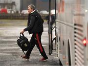6 January 2019; Mayo manager James Horan arrives prior to the Connacht FBD League Preliminary Round match between Leitrim and Mayo at Avantcard Páirc Seán Mac Diarmada in Carrick-on-Shannon, Co Leitrim. Photo by Stephen McCarthy/Sportsfile