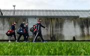 6 January 2019; Cork players arrive ahead of the McGrath Cup Semi-final between Limerick and Cork at Mick Neville Park in Rathkeale, Co. Limerick. Photo by Ramsey Cardy/Sportsfile