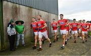6 January 2019; The Cork team make their way to the pitch ahead of the McGrath Cup Semi-final between Limerick and Cork at Mick Neville Park in Rathkeale, Co. Limerick. Photo by Ramsey Cardy/Sportsfile