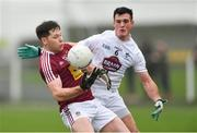 6 January 2019; Callum McCormack of Westmeath in action against Eoin Doyle of Kildare during the Bord na Móna O'Byrne Cup Round 3 match between Westmeath and Kildare at the Downs GAA Club in Westmeath. Photo by Piaras Ó Mídheach/Sportsfile