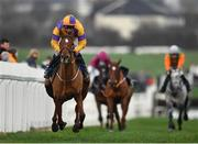 6 January 2019; Meri Devie, with Bryan Cooper up, on their way to winning the Irish Stallion Farms EBF Mares Beginners Steeplechase at Naas Racecourse in Kildare. Photo by Seb Daly/Sportsfile