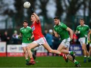 6 January 2019; Paul Walsh of Cork in action against Brian Fanning of Limerick during the McGrath Cup Semi-final between Limerick and Cork at Mick Neville Park in Rathkeale, Co. Limerick. Photo by Ramsey Cardy/Sportsfile