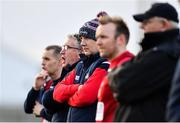 6 January 2019; Cork manager Ronan McCarthy and his backroom team during the McGrath Cup Semi-final between Limerick and Cork at Mick Neville Park in Rathkeale, Co. Limerick. Photo by Ramsey Cardy/Sportsfile