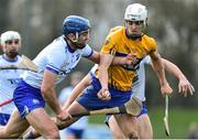 6 January 2019; Aidan McCarthy of Clare in action against Michael Walsh of Waterford during the Co-Op Superstores Munster Hurling League 2019 match between Waterford and Clare at Fraher Field in Waterford. Photo by Matt Browne/Sportsfile