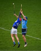 6 January 2019; Sean Downey of Laois contests a dropping ball with Sean Moran of Dublin during the Bord na Mona Walsh Cup Round 3 match between Laois and Dublin at O'Moore Park in Portlaoise, Laois. Photo by Brendan Moran/Sportsfile