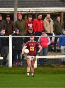 6 January 2019; Ger Egan of Westmeath prepares to take a free during the Bord na Móna O'Byrne Cup Round 3 match between Westmeath and Kildare at the Downs GAA Club in Westmeath. Photo by Piaras Ó Mídheach/Sportsfile