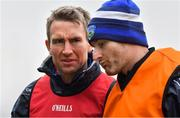 6 January 2019; Laois manager Eddie Brennan with strength & conditioning coach Niall Corcoran, right, prior to the Bord na Mona Walsh Cup Round 3 match between Laois and Dublin at O'Moore Park in Portlaoise, Laois. Photo by Brendan Moran/Sportsfile
