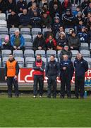 6 January 2019; Laois manager Eddie Brennan, 2nd from left,  and his selectors look on during the Bord na Mona Walsh Cup Round 3 match between Laois and Dublin at O'Moore Park in Portlaoise, Laois. Photo by Brendan Moran/Sportsfile