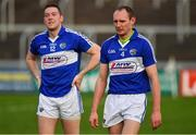 6 January 2019; Joe Phelan, right, and Stephen Maher of Laois after the Bord na Mona Walsh Cup Round 3 match between Laois and Dublin at O'Moore Park in Portlaoise, Laois. Photo by Brendan Moran/Sportsfile