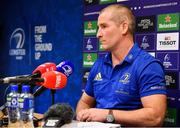 7 January 2019; Leinster senior coach Stuart Lancaster speaking during a Leinster Rugby Press Conference at Leinster Rugby Headquarters in UCD, Dublin. Photo by Sam Barnes/Sportsfile