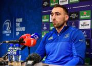 7 January 2019; Jack Conan speaking during a Leinster Rugby Press Conference at Leinster Rugby Headquarters in UCD, Dublin. Photo by Sam Barnes/Sportsfile