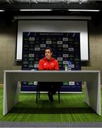 7 January 2019; Head coach Johann van Graan during a Munster Rugby Press Conference at the University of Limerick in Limerick. Photo by Piaras Ó Mídheach/Sportsfile