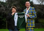 7 January 2019; Doddie Weir was speaking to media in Dublin today ahead of the Ireland v England Rugby Legends match taking place in the RDS on Friday, 1st February. All proceeds from this great event will be split among the My Name'5 Doddie Foundation, Rugby Players Ireland Foundation, Restart Rugby, the IRFU Charitable Trust and Irish motor neurone charities. For tickets search #RugbyLegends or visit Ticketmaster. Pictured is Doddie Weir, right, and former Ireland hooker Shane Byrne. Photo by Ramsey Cardy/Sportsfile