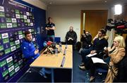 7 January 2019; Jordan Larmour speaking during a Leinster Rugby Press Conference at Leinster Rugby Headquarters in UCD, Dublin. Photo by Sam Barnes/Sportsfile