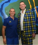 7 January 2019; Doddie Weir was speaking to media in Dublin today ahead of the Ireland v England Rugby Legends match taking place in the RDS on Friday, 1st February. All proceeds from this great event will be split among the My Name'5 Doddie Foundation, Rugby Players Ireland Foundation, Restart Rugby, the IRFU Charitable Trust and Irish motor neurone charities. For tickets search #RugbyLegends or visit Ticketmaster. Pictured is former Scotland international Doddie Weir, right, and Leinster senior coach Stuart Lancaster. Photo by Ramsey Cardy/Sportsfile