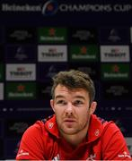 7 January 2019; Peter O'Mahony during a Munster Rugby Press Conference at the University of Limerick in Limerick. Photo by Piaras Ó Mídheach/Sportsfile