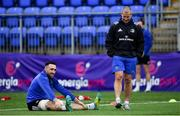 7 January 2019; Jack Conan and Senior coach Stuart Lancaster during Leinster Rugby squad training at Energia Park in Donnybrook, Dublin. Photo by Ramsey Cardy/Sportsfile