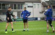 7 January 2019; Garry Ringrose, left, Ross Byrne, centre, and Rory O'Loughlin during Leinster Rugby squad training at Energia Park in Donnybrook, Dublin. Photo by Ramsey Cardy/Sportsfile