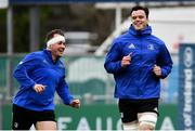7 January 2019; Ed Byrne, left, and James Ryan during Leinster Rugby squad training at Energia Park in Donnybrook, Dublin. Photo by Ramsey Cardy/Sportsfile