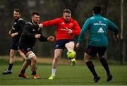7 January 2019; Rory Scannell is tackled by Conor Oliver, left, during Munster Rugby Squad Training at the University of Limerick in Limerick. Photo by Piaras Ó Mídheach/Sportsfile