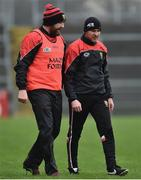 6 January 2019; Down manager Paddy Tally, right, with selector Stephen Beattie during the Bank of Ireland Dr McKenna Cup Round 2 match between Down and Donegal at Pairc Esler, Newry, Co. Down. Photo by Oliver McVeigh/Sportsfile