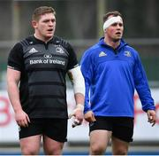 7 January 2019; Tadhg Furlong, left, and Ed Byrne during Leinster Rugby squad training at Energia Park in Donnybrook, Dublin. Photo by Ramsey Cardy/Sportsfile