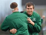 8 January 2019; James Cannon, right, during Connacht Rugby squad training at the Sportsground in Galway. Photo by Seb Daly/Sportsfile